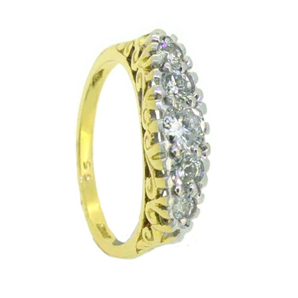5 Stone Graduated Diamond Eternity Ring 9ct Gold 0.55ct