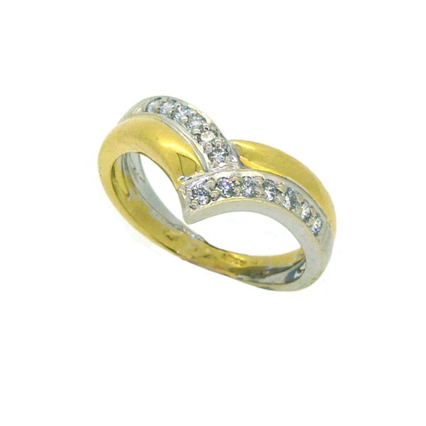 Diamond Shaped Eternity Ring 0.22ct 18ct 2 Colour Gold