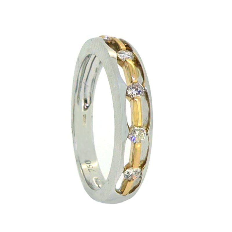 Diamond Eternity Ring 0.17ct 18ct 2 Colour Gold