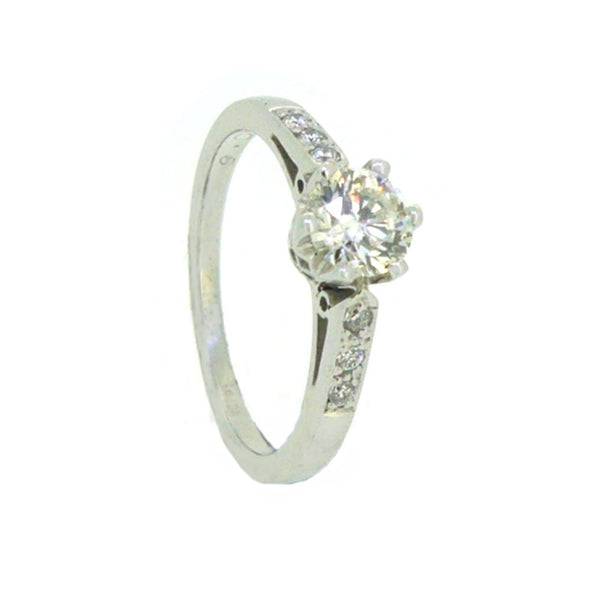 Solitaire Diamond Engagement Ring 0.66ct 18ct White Gold