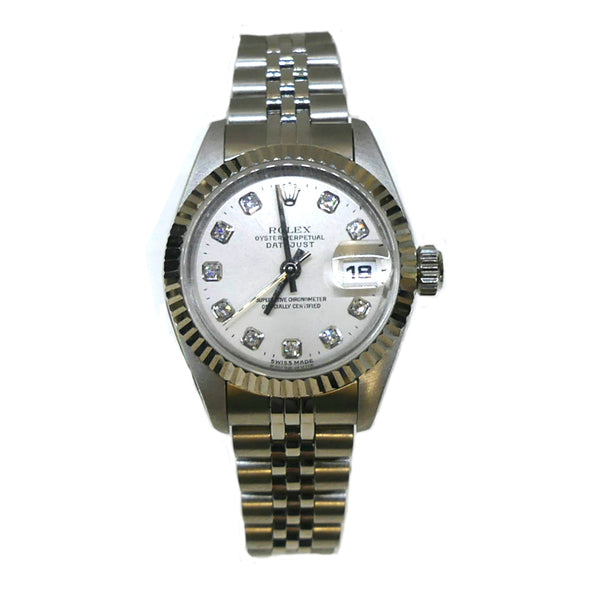 Pre Owned Rolex Ladies Datejust 69174 Diamond Dial