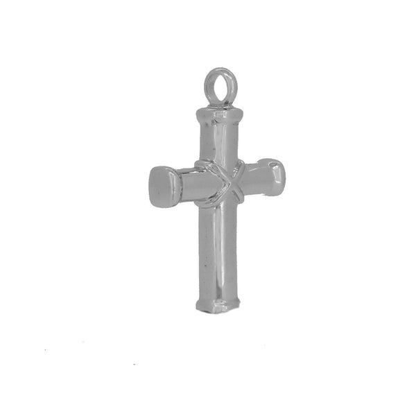 Sterling Silver Ash Holding Cross Pendant Side