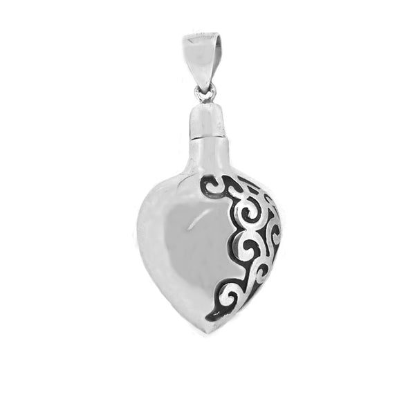 Sterling Silver Ash Holding Heart Pendant