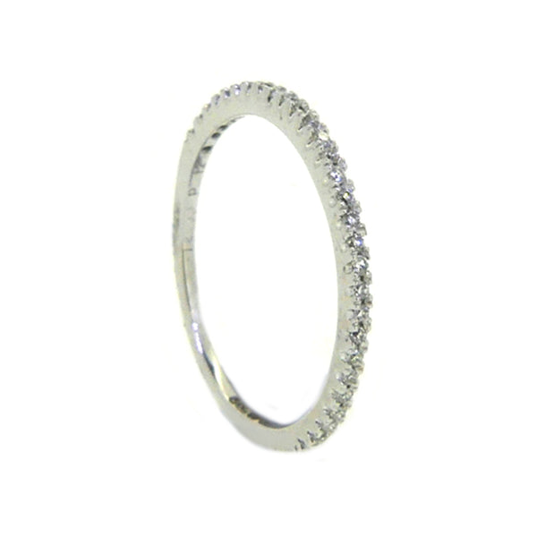 Diamond Eternity Ring 0.12ct Claw Set 18ct White Gold 2