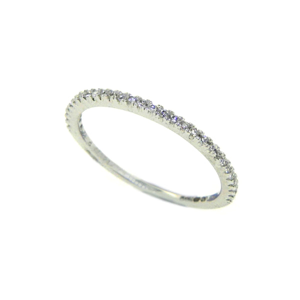 Diamond Eternity Ring 0.12ct Claw Set 18ct White Gold