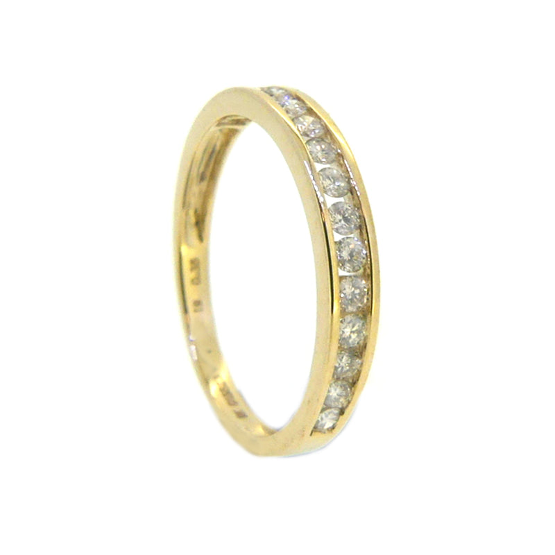 Diamond Eternity Ring 0.35ct Channel Set 9ct Gold 2