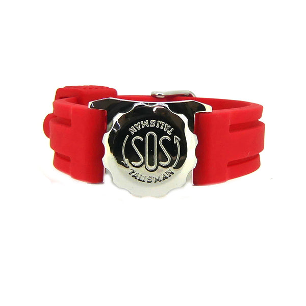SOS Talisman Steel Plain Watch Capsule with Rubber Strap
