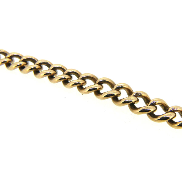 Pre Owned Graduated Curb Bracelet 9ct Gold LINKS