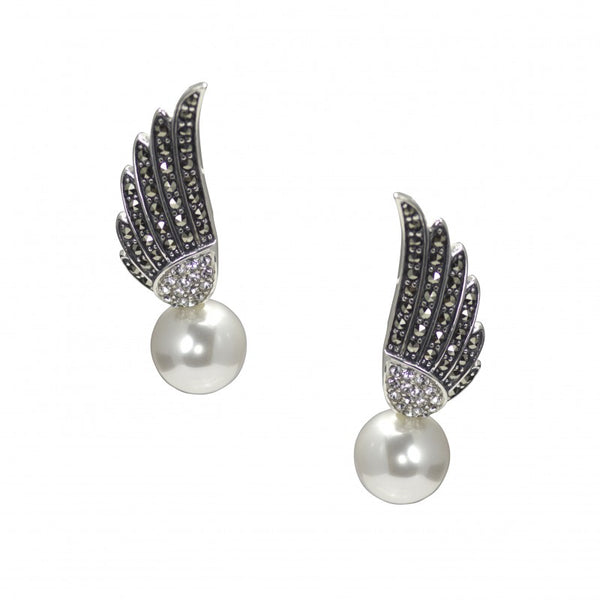 Silver Wing Earrings PBE023PRL