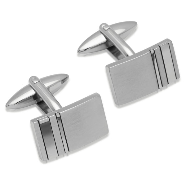 Unique & Co Mens Steel Cufflinks QC-137