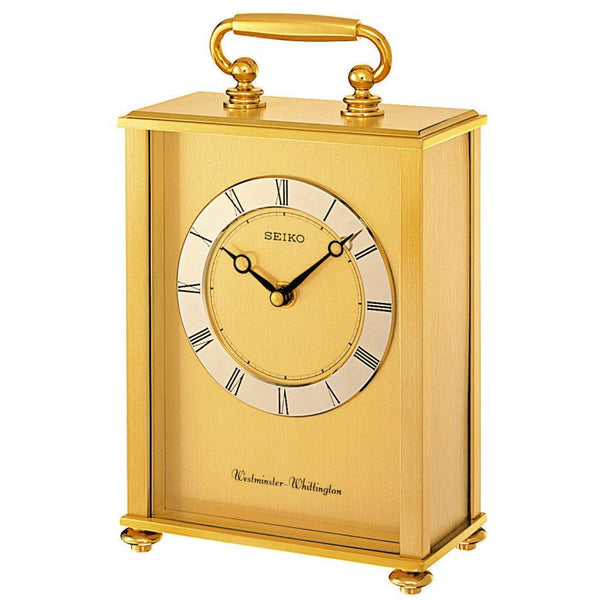 Seiko Mantle Dual Chime Carriage Clock QHJ201G