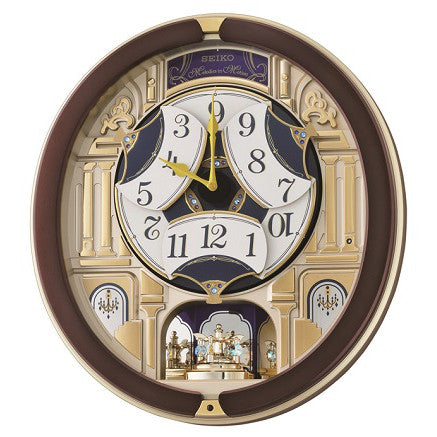 Seiko Melody in Motion Wall Clock QXM356B open