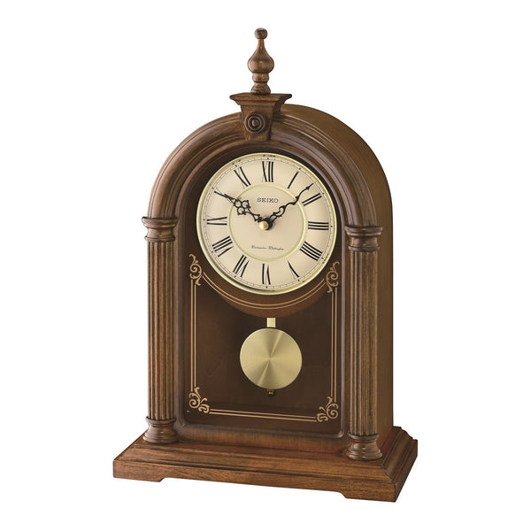 Seiko Wooden Dual Chime Mantle Clock QXQ036B