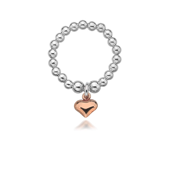 Dollie Jewellery Gigi Rose Heart Ring R0027