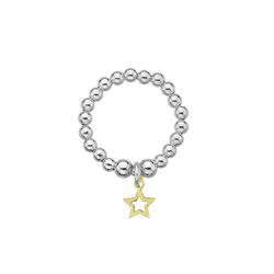Dollie Jewellery Mini Gold Star Ring R0061