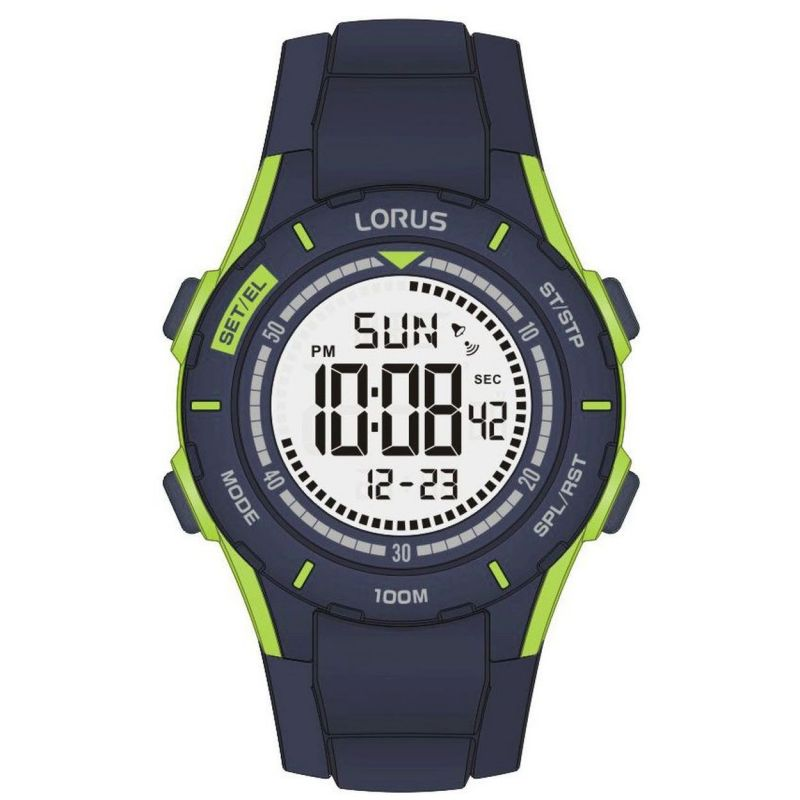 Lorus Children's Silicone Digital Watch RRX31FX9