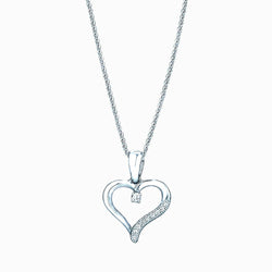 The Real Effect Heart Necklace RE13434CZ