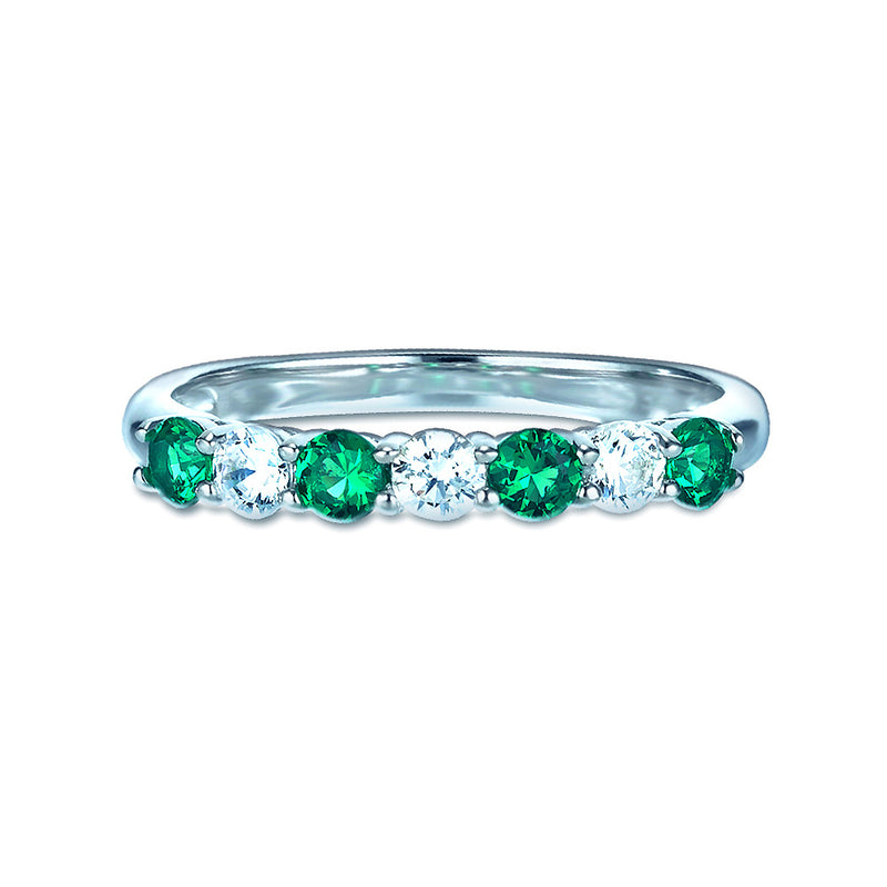 Real Effect Green Eternity Ring RE26564GE
