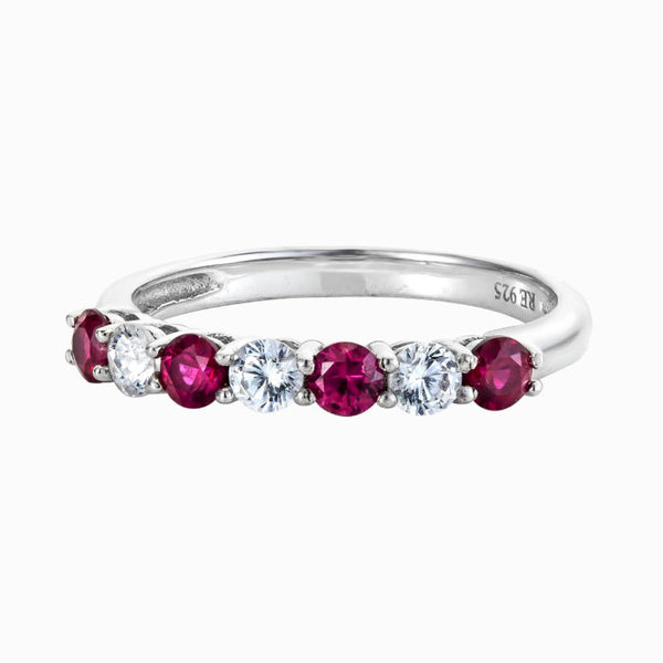 Real Effect Red CZ Eternity Ring RE26564RB