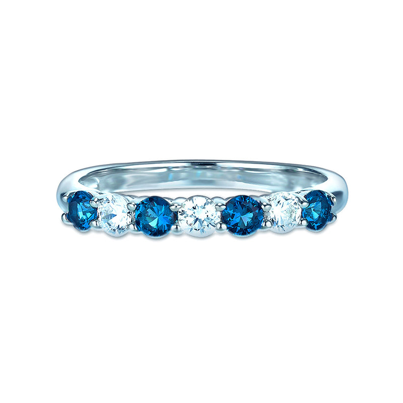 Real Effect Blue Eternity Ring RE26564SP