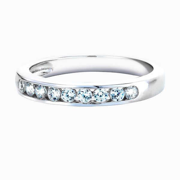Real Effect White Eternity Ring RE26574CZ
