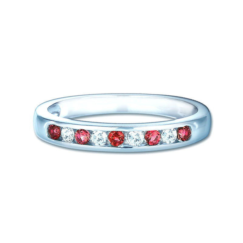 Real Effect Red Eternity Ring RE26574RB