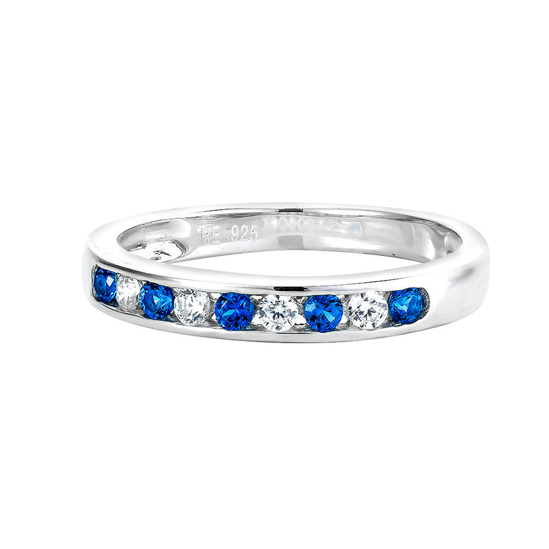 Real Effect Blue Eternity Ring RE26574SP