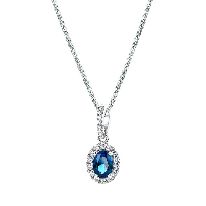 The Real Effect Sapphire Blue CZ Necklace