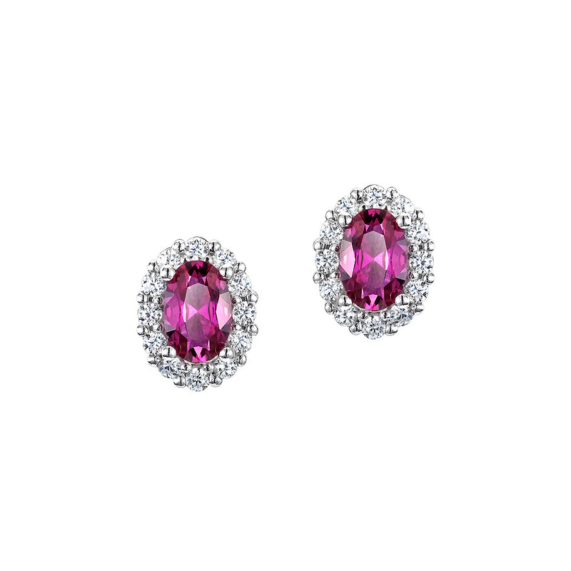 The Real Effect Ruby Red CZ Earrings