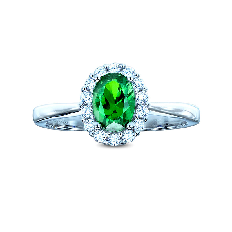 The Real Effect Emerald Green CZ Cluster Ring RE29564GE