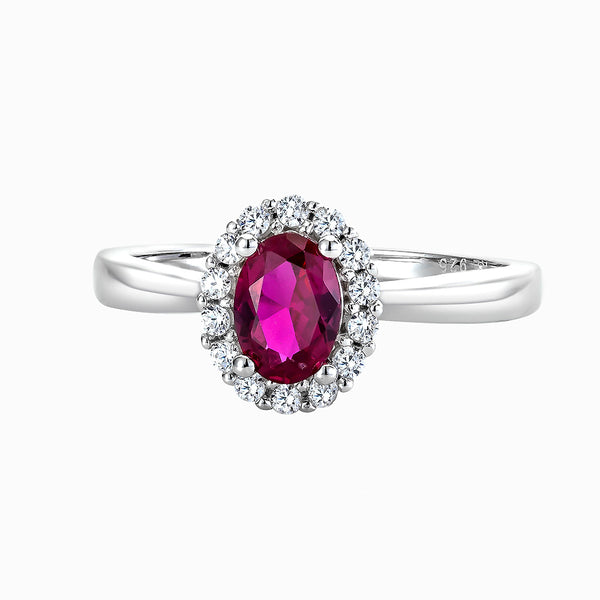 The Real Effect Ruby Red CZ Cluster Ring
