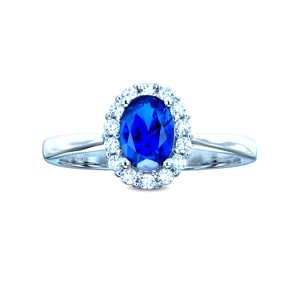 The Real Effect Sapphire Blue CZ Cluster Ring