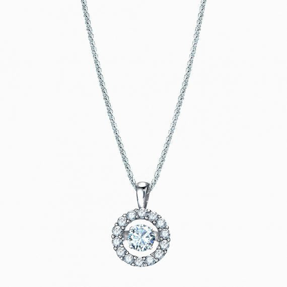 The Real Effect Halo Necklace RE30984