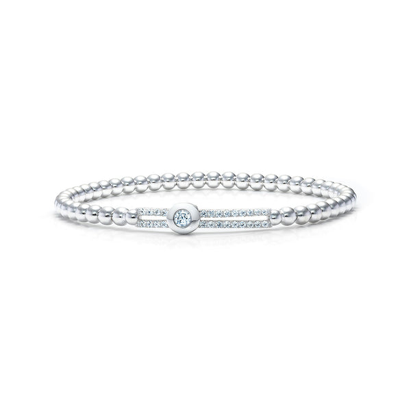 The Real Effect Silver Bead CZ Bracelet