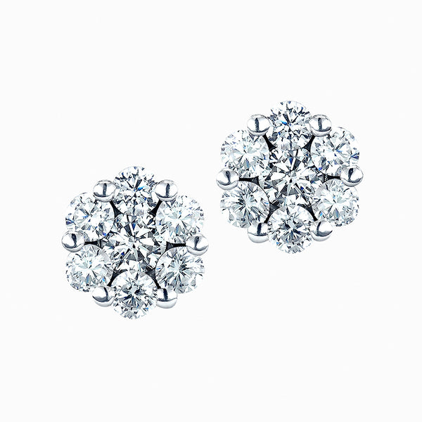 The Real Effect Cluster Earrings RE32654