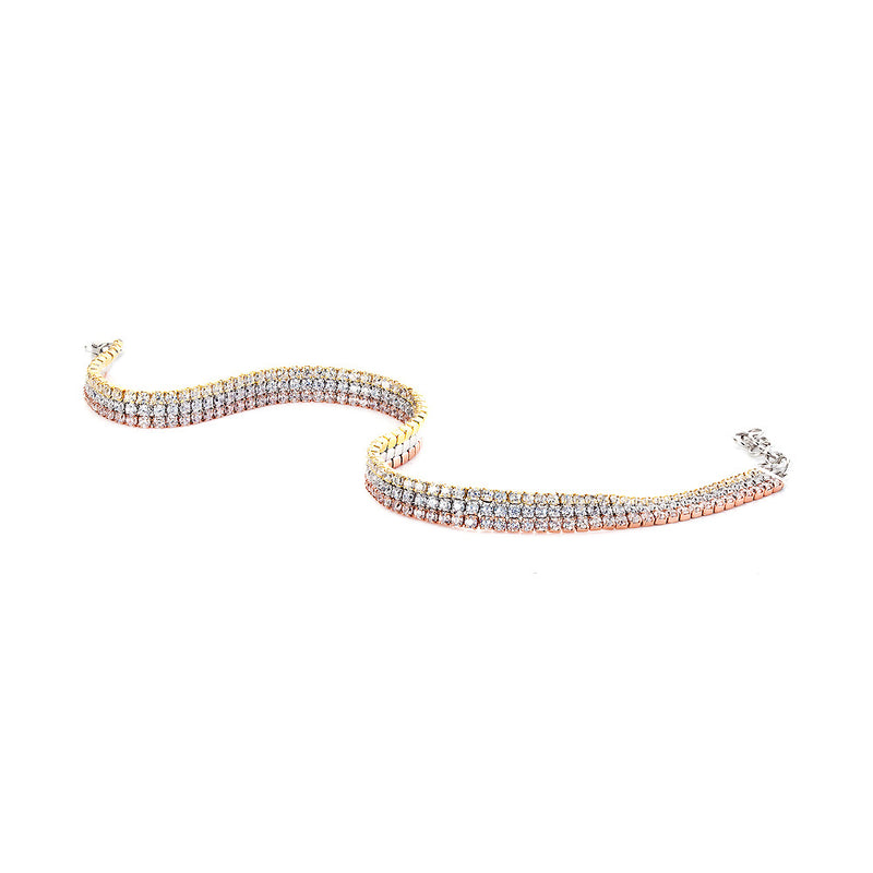 The Real Effect Silver CZ Bracelet RE36764CZ