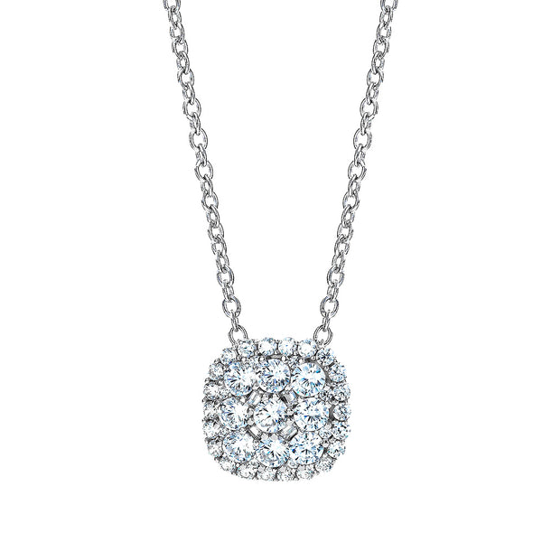 The Real Effect Cushion Cluster Necklace RE37324