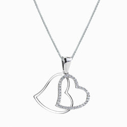The Real Effect Double Heart Necklace RE39464