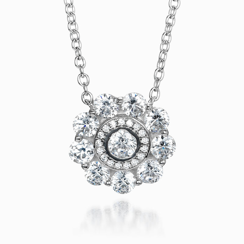 The Real Effect CZ Cluster Necklace RE39484