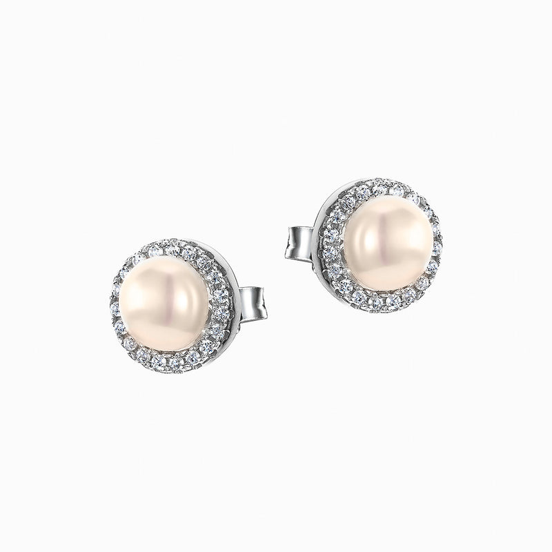 The Real Effect CZ Pearl Earrings RE39814