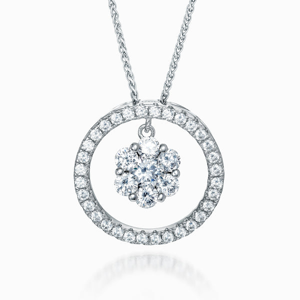 The Real Effect Circle & Cluster Necklace RE40654