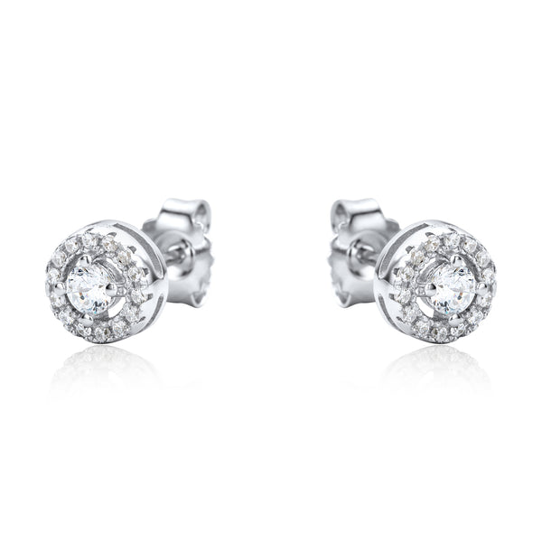 The Real Effect Halo Stud Earrings RE42504