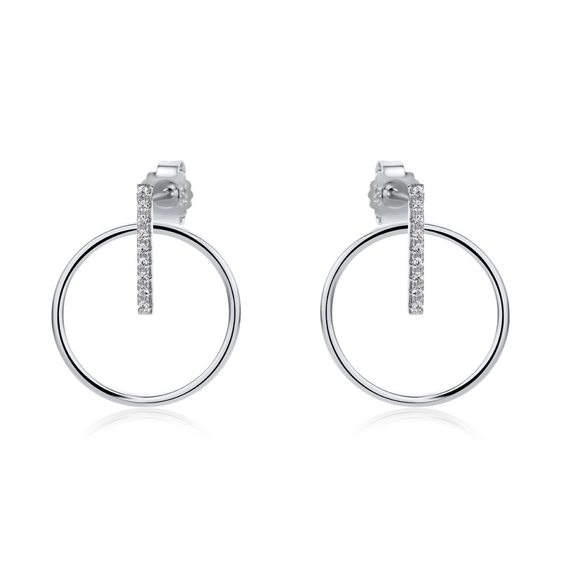 The Real Effect Modern Circle Earrings RE43024