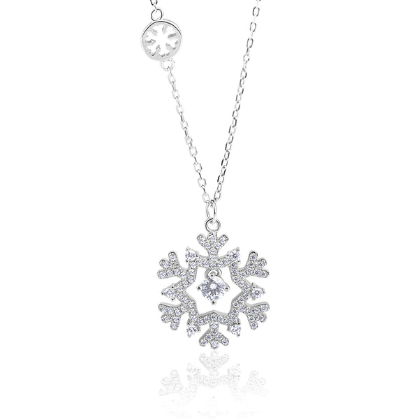 The Real Effect Snowflake Necklace RE43154