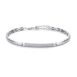 The Real Effect Silver CZ Bracelet RE43274