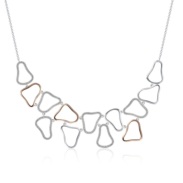 The Real Effect Striking 2 Colour Necklace RE43334
