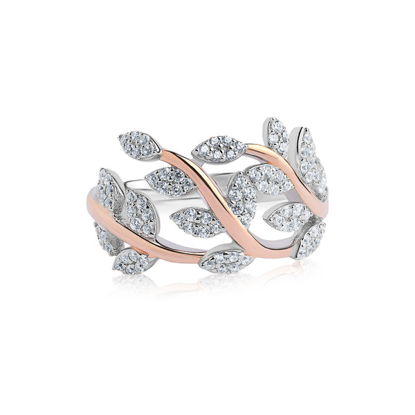 Real Effect Branch Leaf Ring RE44564CZ
