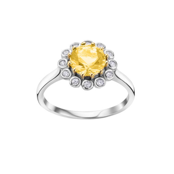 The Real Effect Yellow CZ Ring RE44744
