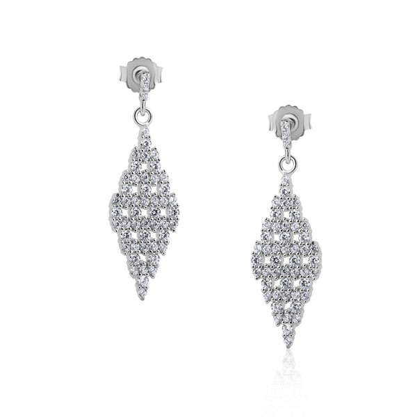 The Real Effect Kite Shaped Drop Earrings RE46594
