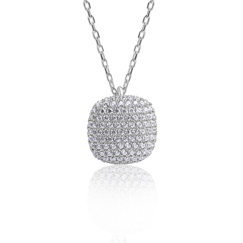 The Real Effect Cushion Pave Necklace RE7264CZ